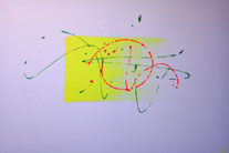 Acrylique sur chassis 100x90 tracefluojetfluo